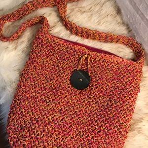 Sun N Sand large crossbody woven straw bag